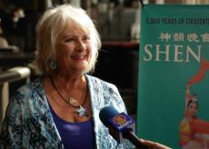 Founder and Director of Swimbabes, Jackie Young was touched by Shen Yun at Portland's Keller Auditorium in downtown Portland on March, 30, 2015. (Courtesy of NTD Television)