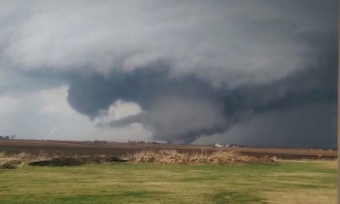 The tornado hit Rochelle, Illinois. (YouTube screenshot)