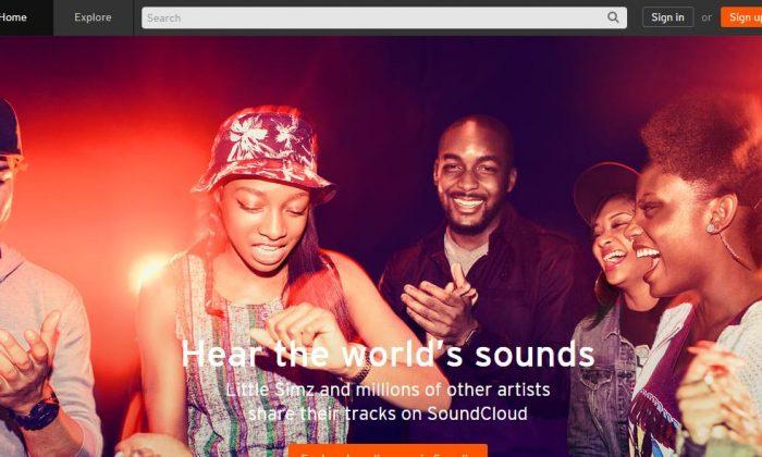 SoundCloud's home page on April 9, 2015. (Screenshot via SoundCloud)
