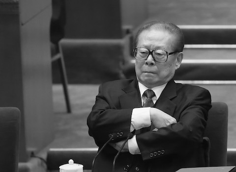 Former Chinese leader Jiang Zemin attend the closing session of the 18th National Congress of the Communist Party of China on Nov. 14, 2012, in Beijing, China. (Feng Li/Getty Images)
