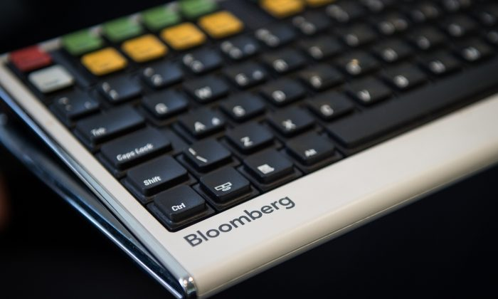 A Bloomberg terminal keyboard is seen in central London on April 17, 2015. (Leon  Neal/AFP/Getty Images)