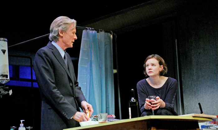 The distance between two people: Tom (Bill Nighy) interrupts Kyra's (Carey Mulligan) safe, yet difficult life, reminding her of their past love and continuing differences. (John Haynes)