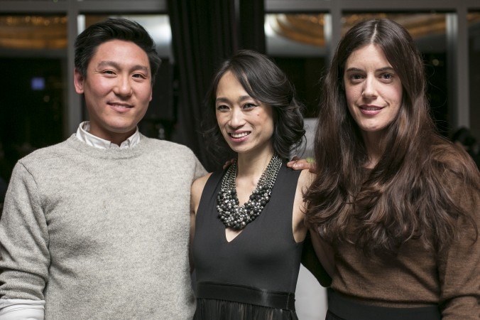 Food stylist Eugene Jho, LuckyRice founder Danielle Chang, photographer Christina Holmes are collaborating on a cookbook. (Samira Bouaou/Epoch Times)