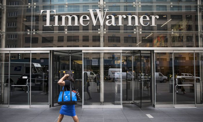 The entrance to the Time Warner center at Columbus Circle in Manhattan on Aug. 7, 2013. (Andrew Burton/Getty Images)