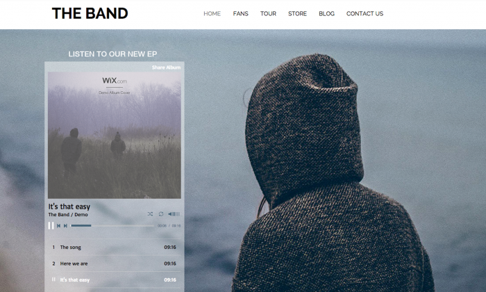 WixMusic lets artists sell their own music on their own hand-crafted websites. (Courtesy of Wix)