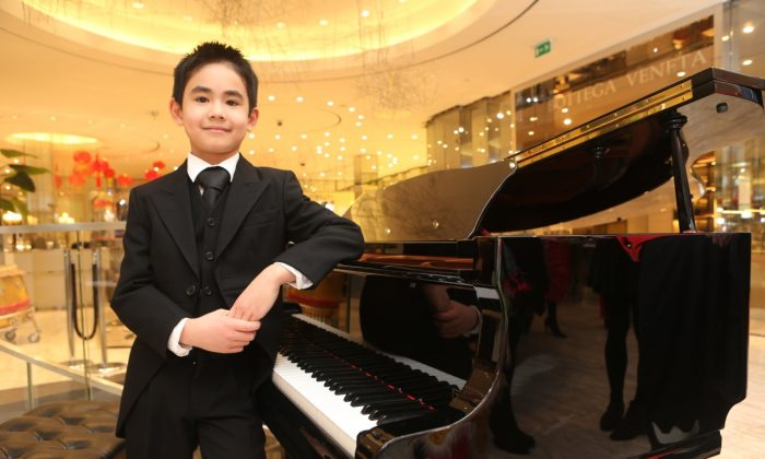 "Joe O'Grady, 9-year-old pianist studying at the Royal Irish Academy of Music with Prof. John O'Conor and Prof. Réamonn Keary. O'Grady started playing the piano at age 3 and his first piano competition when was 5. He was selected as on of ten top talented artists to perform at the Royal Irish Academy of Music Higher Achiever Awards 2013 Gala Concerts. He has also been a first prizewinner in the Under-9 and -11 Piano Solo at the Irish national competition Feis Ceoil. He made his first public broadcast appearance on Irish national television's ""Kindspeak"" and ""Beo Show."""