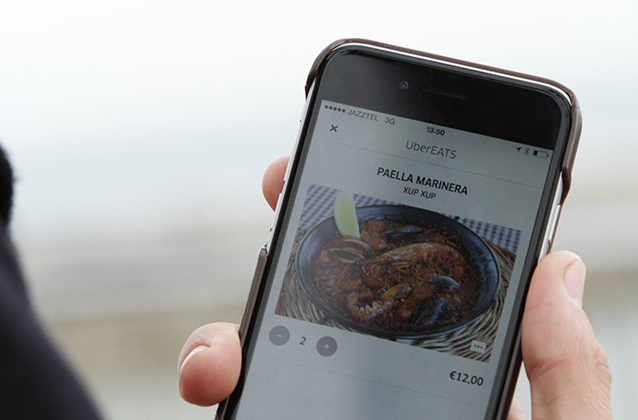 Users will be able to order food delivery from the existing Uber app. (Uber)