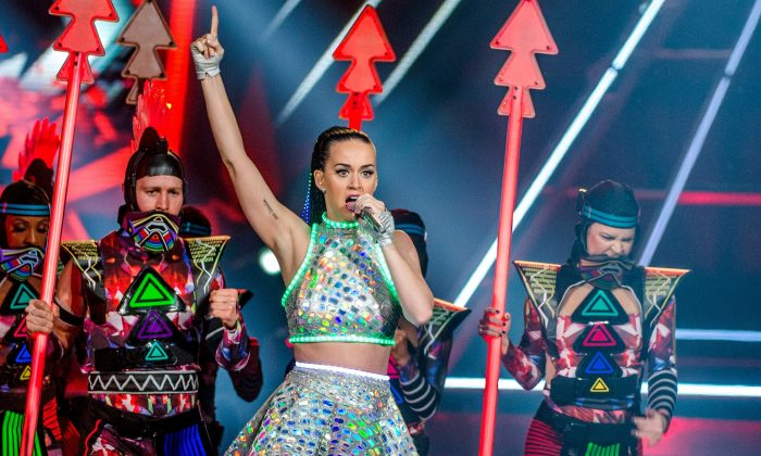 US singer Katy Perry performs at the Ziggo Dome in Amsterdam, on March 9 as part of her Prismatic World Tour. Perry's recent concert was censored in China. (Ferdy Damman/AFP/Getty Images)