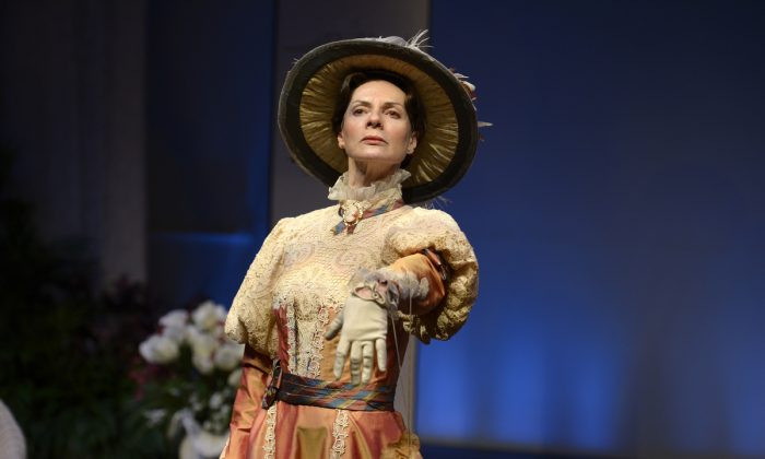 """Jean Stilwell as Lady Bracknell in the TOT's production of """"Earnest, The Importance of Being,"""" 2015. (Gary Beecher)"""