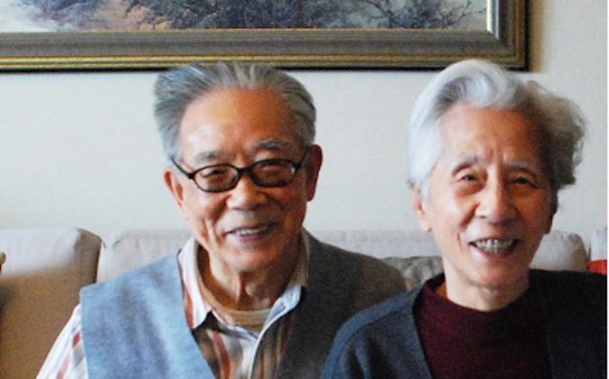 """He Yanling (L) and his wife Song Zheng (R) in an undated photograph, identified as a """"revolutionary couple"""" by People's Daily. Mr. He recently spoke out on behalf of the persecuted spiritual practice Falun Gong. (Screenshot via people.com.cn)"""