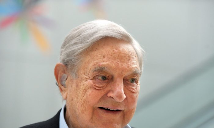 George Soros at the Institute for New Economic Thinking (INET) in Paris on April 9, 2015. (Eric Piermont/AFP/Getty Images)