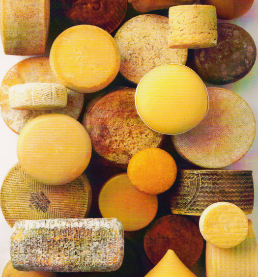 An assortment of Spanish cheeses. (Cheeses of Spain)