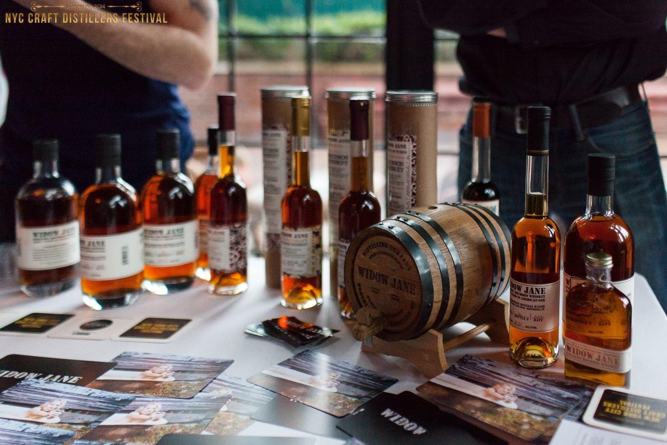 Sampling Widow Jane at last year's NYC Craft Distillers Festival. (Ryan Kelly)