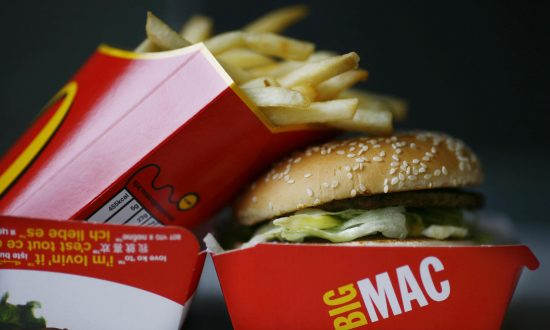 A Big Mac hamburger and french fries are pictured in a McDonald's fast food restaurant in Central London.  (Ben Stansall/AFP/Getty Images)
