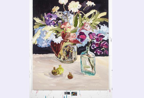 Asian Grocer 2015 oil on linen 112 x 112 cm (Laura Jones)