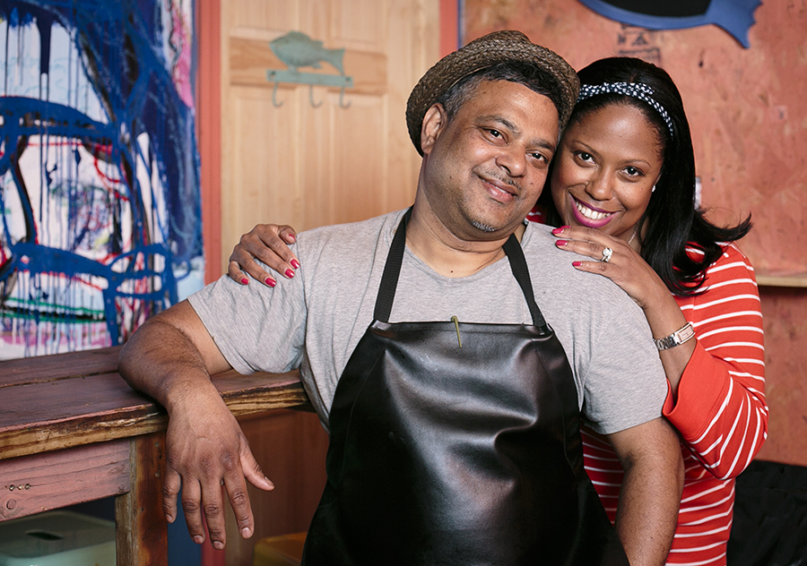 Owner Leticia Skai Young and Executive Chef Raymond Mohan. (Samira Bouaou/Epoch Times)