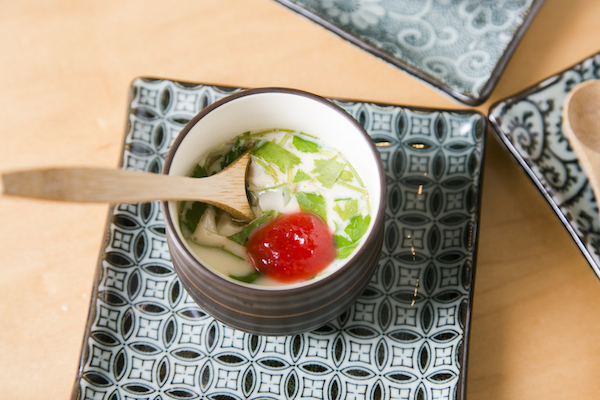 Chawanmushi or steamed egg custard. (Samira Bouaou/Epoch Times)