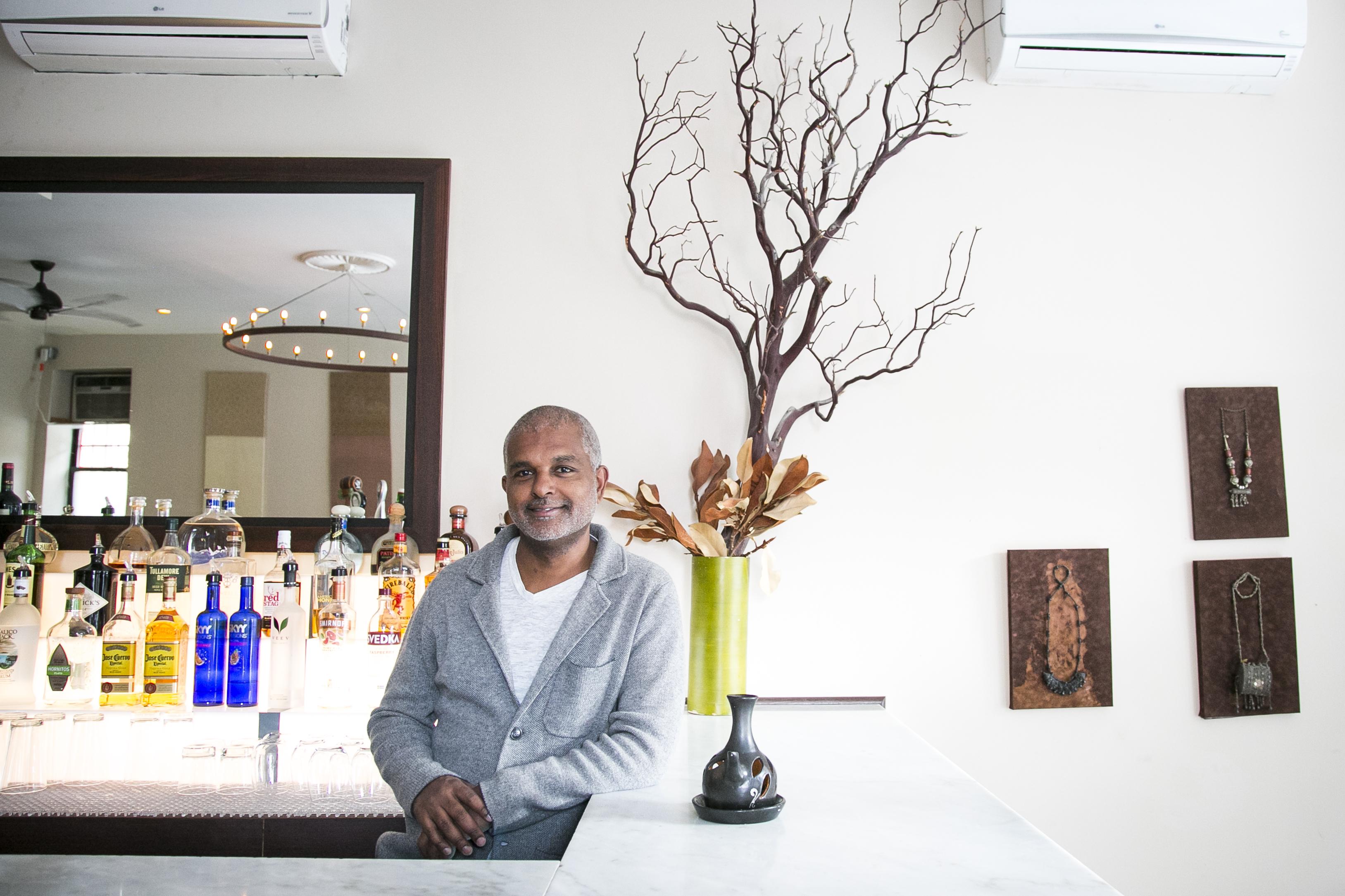 Owner Henock T. Kejela, whose restaurant Zoma is part of  New York African Restaurant Week. (Samira Bouaou/Epoch Times)