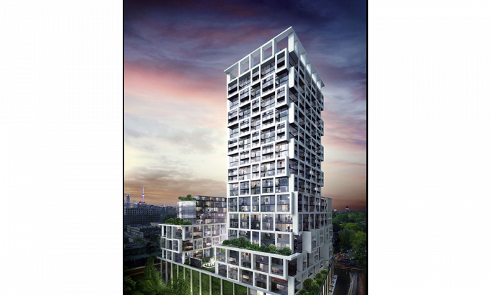 Rendering of Art Shoppe Condos + Lofts to be built in Toronto's Yonge and Eglinton area. The property will consist of two towers with both sharing a common base. Fashion icon Karl Lagerfeld is designing the The Art Shoppe's lobbies. (Courtesy Freed Developments/CD Capital)