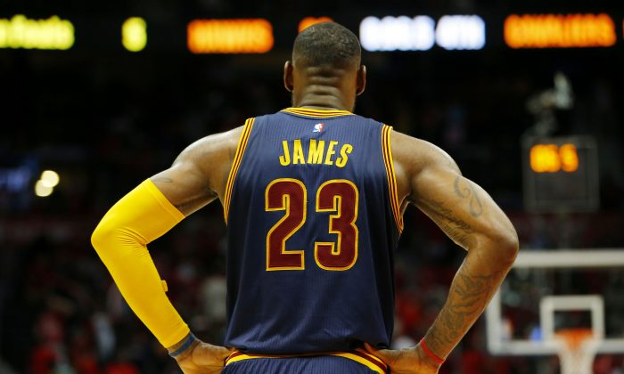 LeBron James has the Cleveland Cavaliers three wins away from the NBA Finals. (Kevin C. Cox/Getty Images)