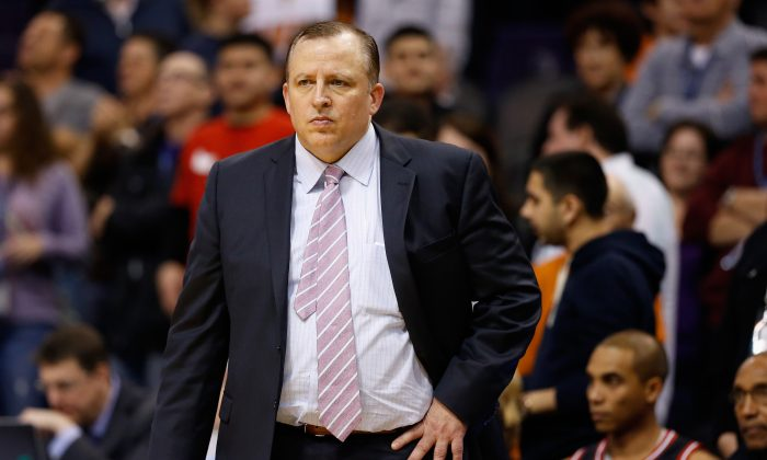 Former Chicago Bulls head coach Tom Thibodeau—who was named the NBA's Coach of the Year in 20011—will almost certainly coach in the NBA again. (Christian Petersen/Getty Images)