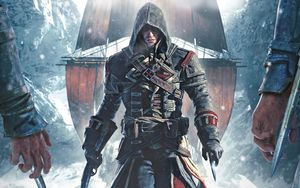 An assassin from the popular video game (ubisoft assassins creed)