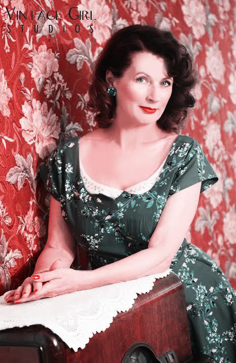 Theresa Campbell McKee, vintage connoisseur and owner of online boutique Blue Velvet Vintage (Courtesy of Theresa Campbell McKee).