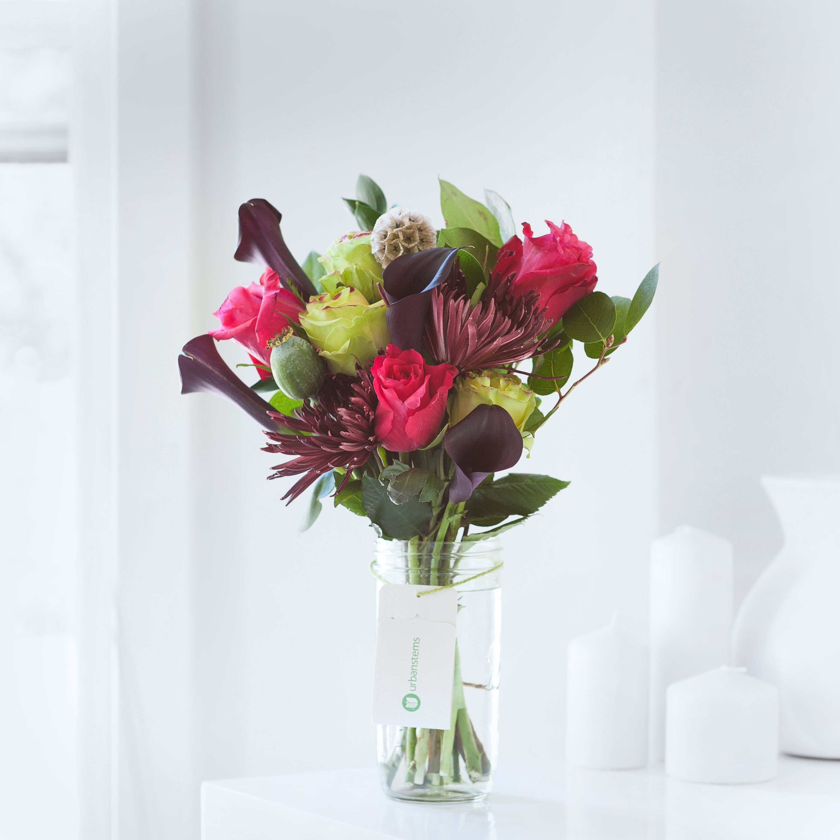 How this company is revolutionizing the flower gifting industry one the titania bouquet by urbanstems has pink lime green roses chocolate calla lilies izmirmasajfo