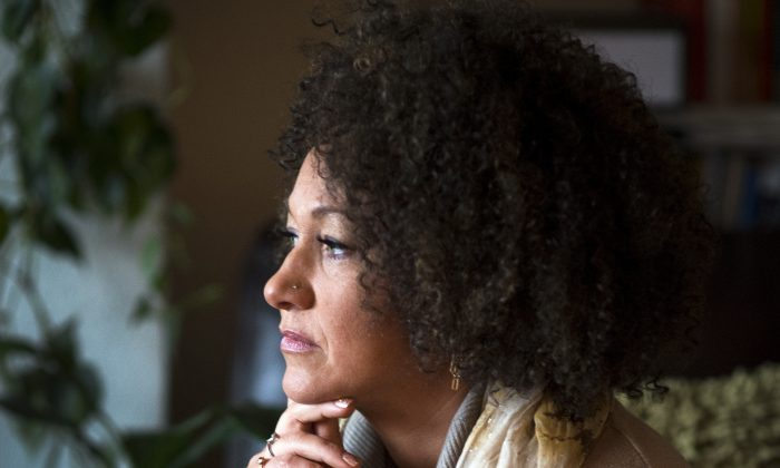 Rachel Dolezal, president of the Spokane chapter of the NAACP, poses for a photo in her Spokane, Wash. home. (Colin Mulvany)