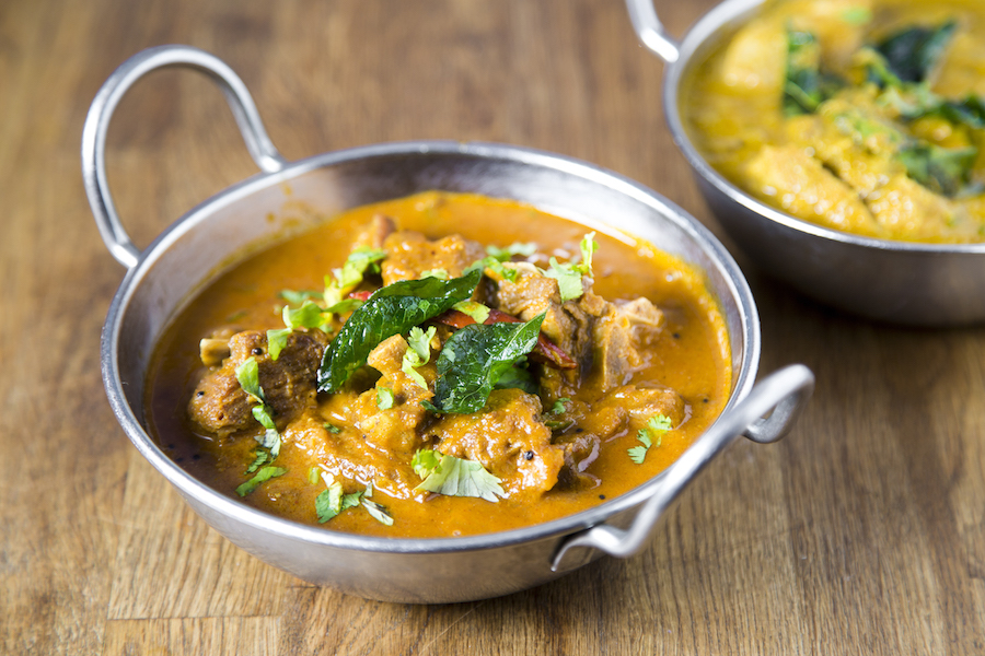 Kochi Goat Curry, curried goat on the bone with curry leaves. (Samira Bouaou/Epoch Times)