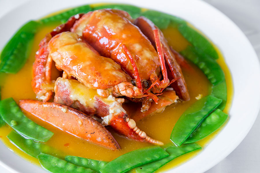Lobster with pumpkin. (Samira Bouaou/Epoch Times)