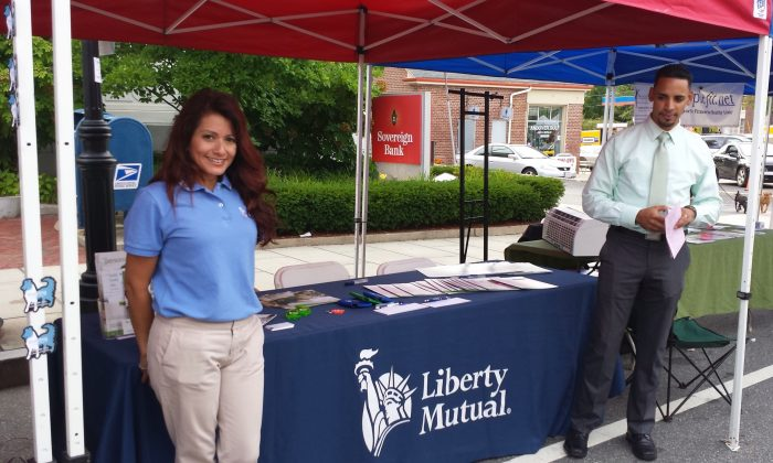 A Liberty Mutual booth at a street fair in Andover, Mass., on Sept. 7, 2013. (Whoisjohngalt/CC BY-SA 3.0)