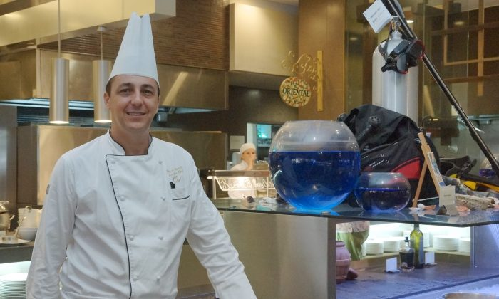 Executive Chef Patrice Falantin at Sofitel's Thyme2 Restaurant, February 2015. (Nelson Huang/NTD Television)