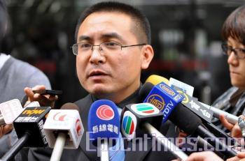 Chen Lu's attorney Peng Jian from Beijing. (Kuang Tianming/ The Epoch Times)
