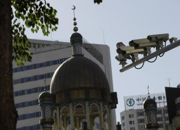 Cameras installed in Urumqi are high-definition, riot-proof and capable of 360 degrees rotation .with fixed focus. (AFP/Getty Images)