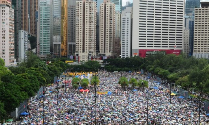 """The annual """"Grand July 1 Protest"""" welcomed more than 400,000 participants in 2012. (The Epoch Times)"""