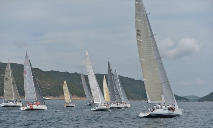 'Jazz' enjoying the sailing in the HKPN Division of the Port Shelter Regatta (Bill Cox/The Epoch Times)