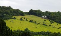 Eight Days to the Games, Surrey Gears Up With Olympic Rings