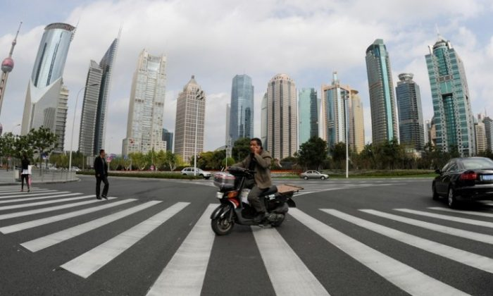 A general view shows the Pudong financial district in Shanghai on Nov. 1, 2011. (Mark Ralston/AFP/Getty Image)