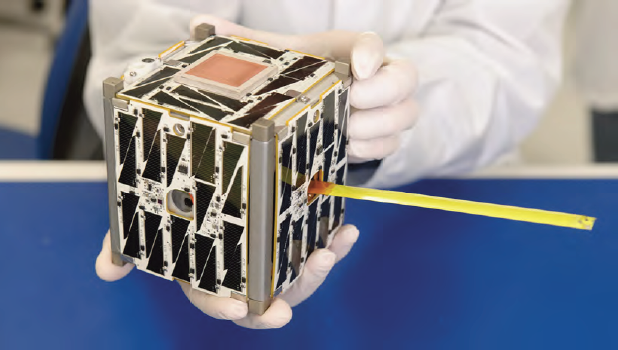 NASA's prototype PhoneSat 2.5 nanosatellite contains nothing but a standard smartphone. The innovation would make satellite technology ever more accessible. (Dominic Hart/NASA Ames Research Center)