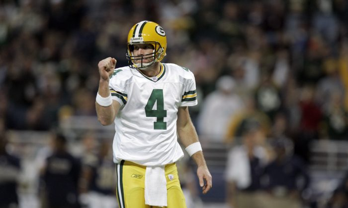 Former Green Bay Packers quarterback Brett Favre won three MVPs and a Super Bowl in his time with the storied franchise. (AP Photo/Jeff Roberson)