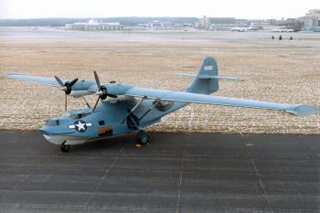 'FLYING BOAT': This aircraft is similar to the sunken U.S. Army Air Force plane found in the St. Lawrence River near the Mingan Archipelago National Park Reserve in Quebec. (Copyright National Museum of the United States Air Force, U.S. Air Force Photo)