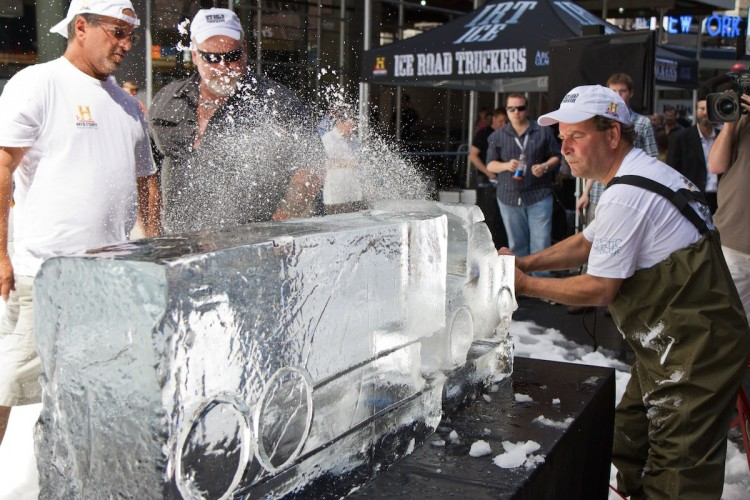 History's 'Ice Road Truckers' Cool Down Times Square