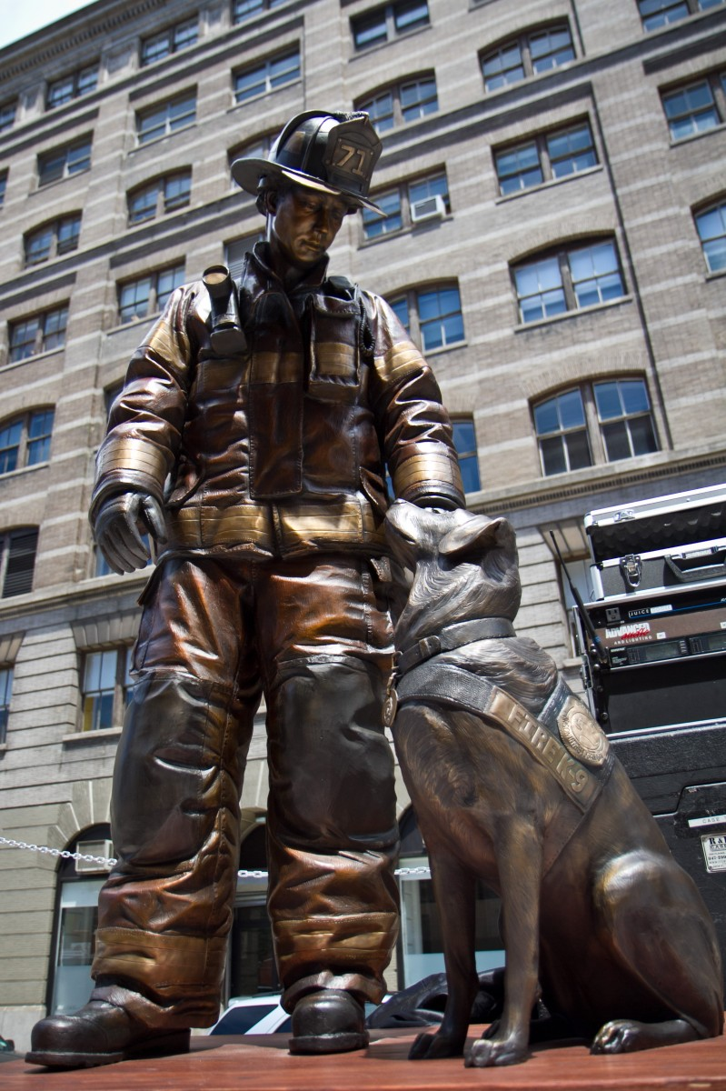 First National Fire Dog Monument Comes to New York