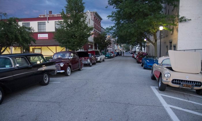Front Street during CruzinPort in Port Jervis on July 21, 2015. (Holly Kellum/Epoch Times)