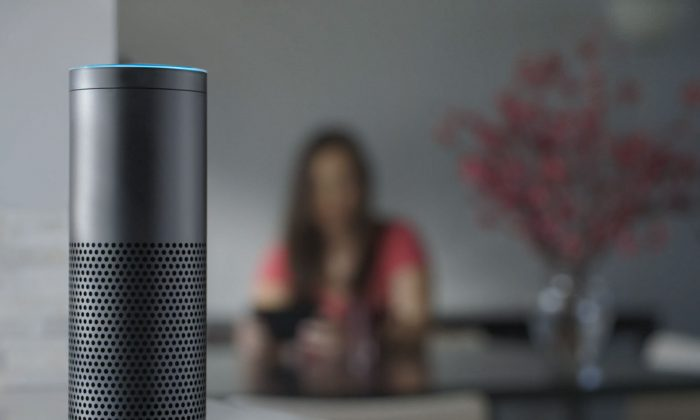 A man's Amazon Alexa device apparently switched itself on and played music at 2 a.m., in Hamburg, Germany (Amazon via AP, File)