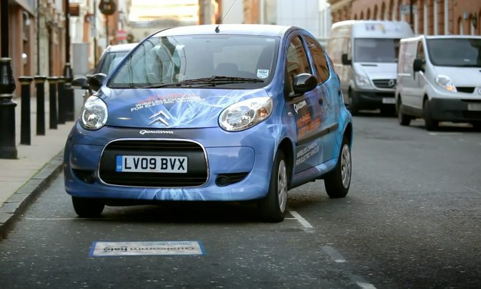 An electric vehicle that can charge wirelessly. (Qualcomm.com)