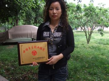 Tang Fuzhen was once named the Model Woman Entrepreneur.  (Photo provided by family members)