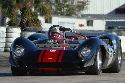 Lola sports cars like this 1965 T70 Spyder competed in early Can Am races. (James Fish/The Epoch Times)