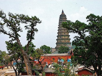 Guangsheng's famous pagoda stands serenely over Shanxi. (Panormio.com user 'yayawilliam')